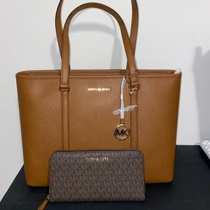 Mk large tote and wallet